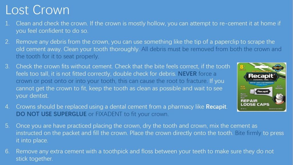 First Dental Care - What To Do In An Emergency